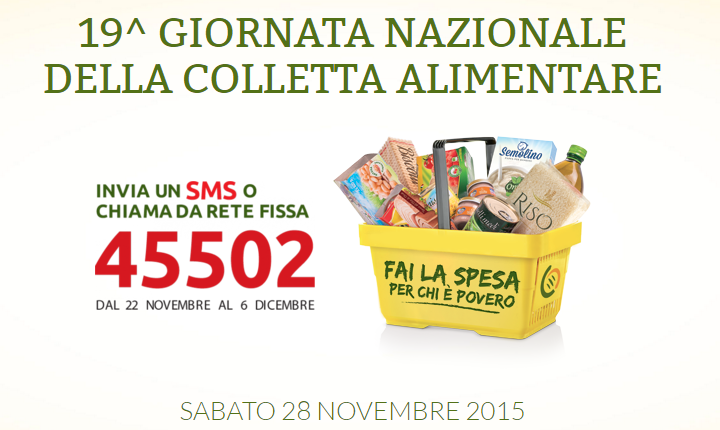 19^a Giornata Nazionale della Colletta Alimentare - Sabato 28 Novembre 2015