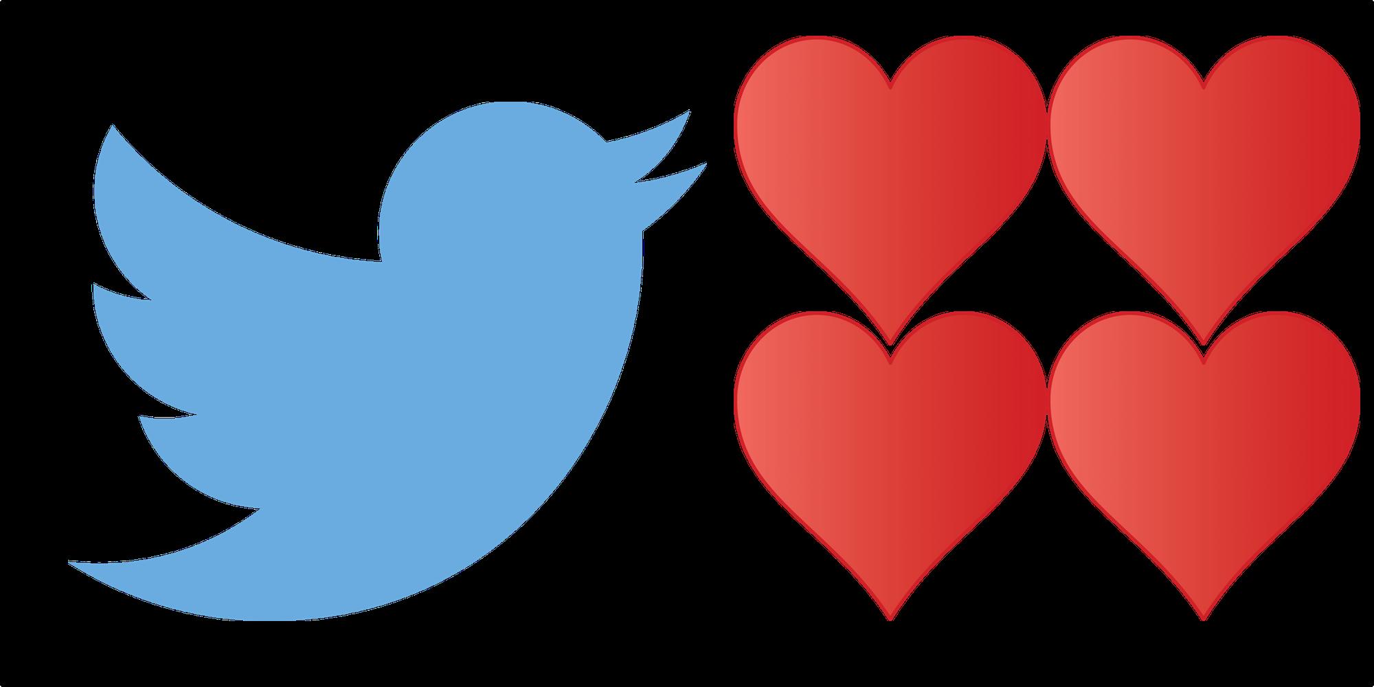 #Twitter sostituisce le #stelline con i #cuori.....