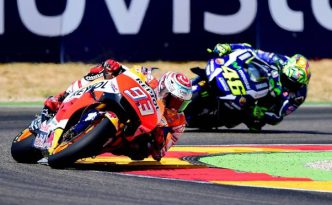 Rossi e Marquez ad Aragon