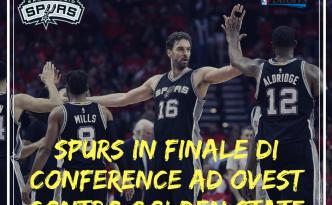NBA: gli Spurs volano in finale di conference ad Ovest.
