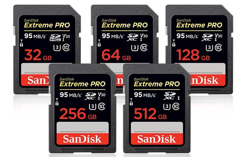 Schede di MemoriaSDHCExtreme PROdiSanDisk