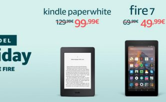 Amazon BlackFriday: Kindle Paperwhite e Fire in offerta