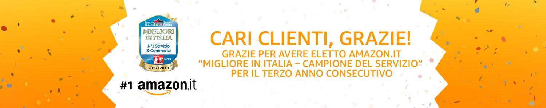 """Il sito Amazon.it eletto """"Migliore in italia – Campione del servizio"""""""