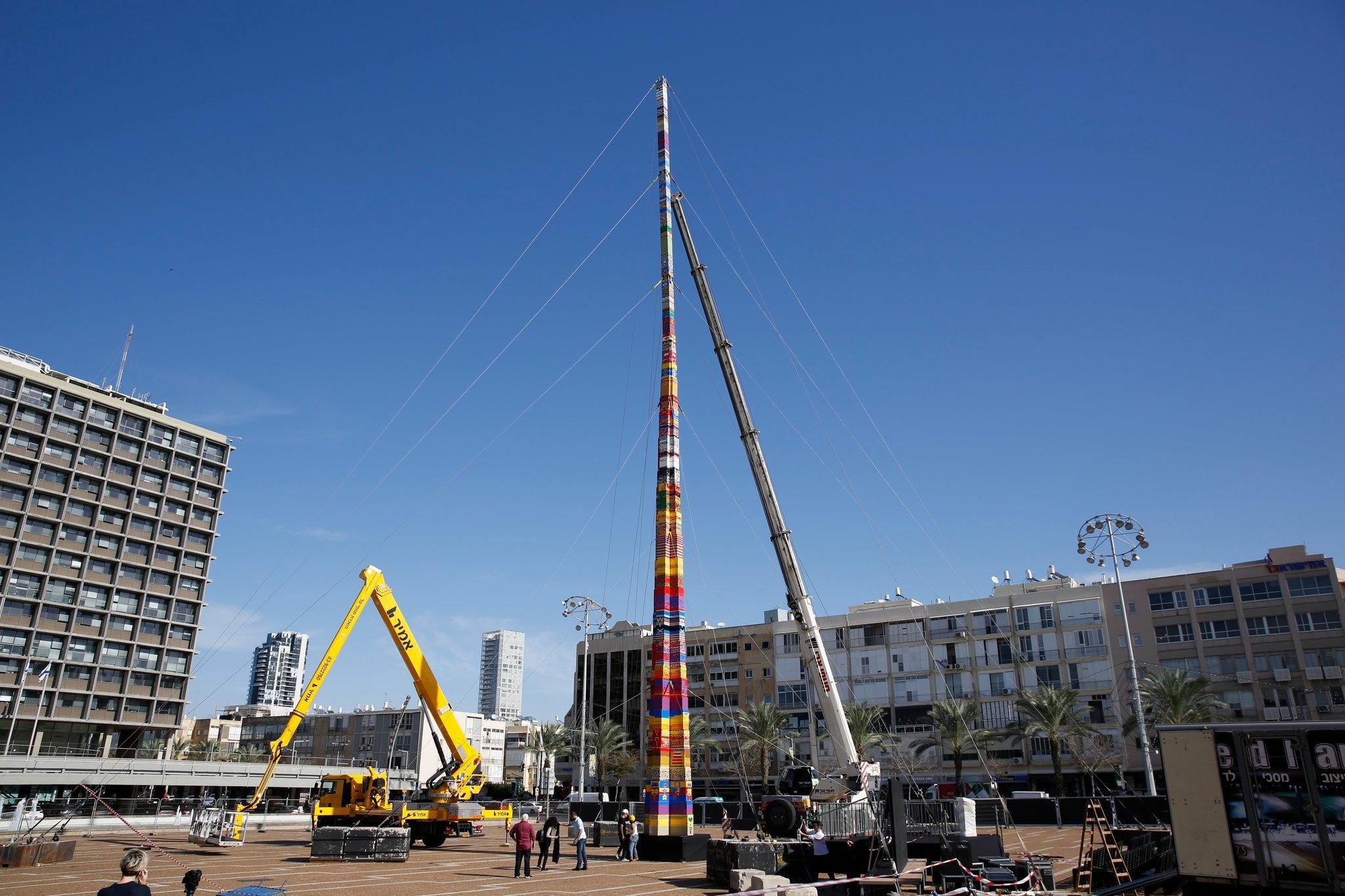 La Lego Tower di Tel Aviv