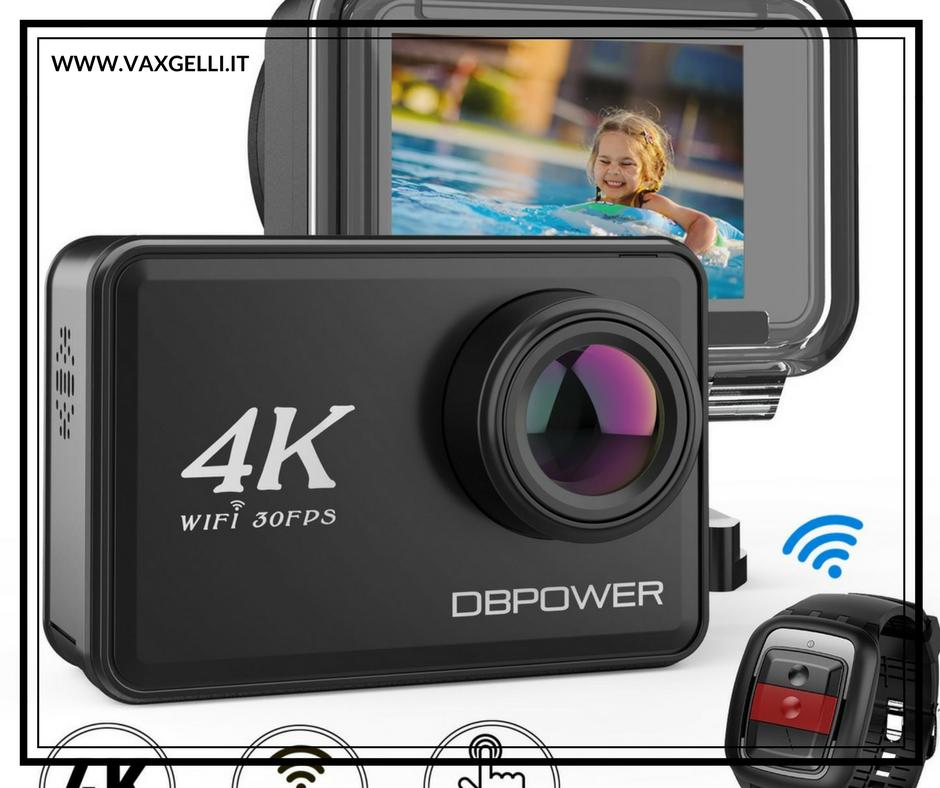DBPOWER Action Camera 4K con touchscreen