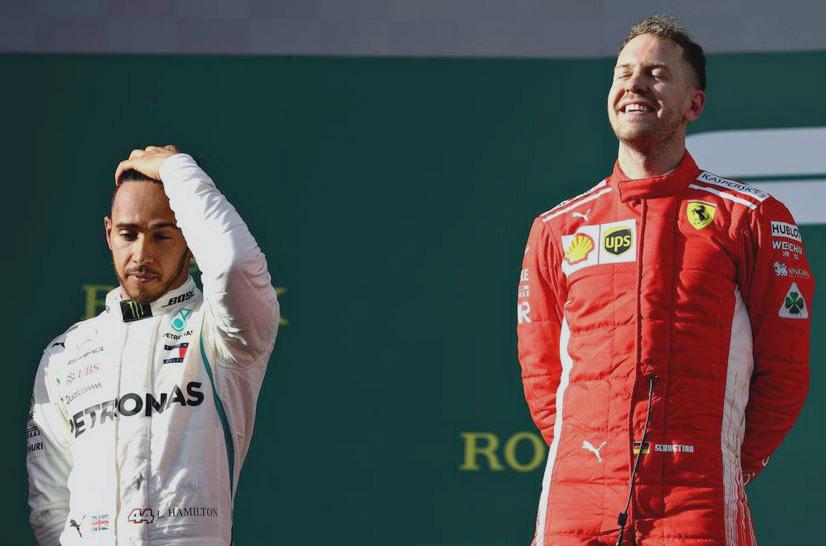 Vettel felice sul podio