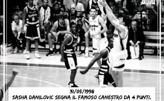Il canestro da 4 punti di Sasha Danilovic