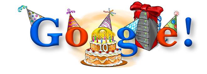 Il doodle del 10° compleanno di Google