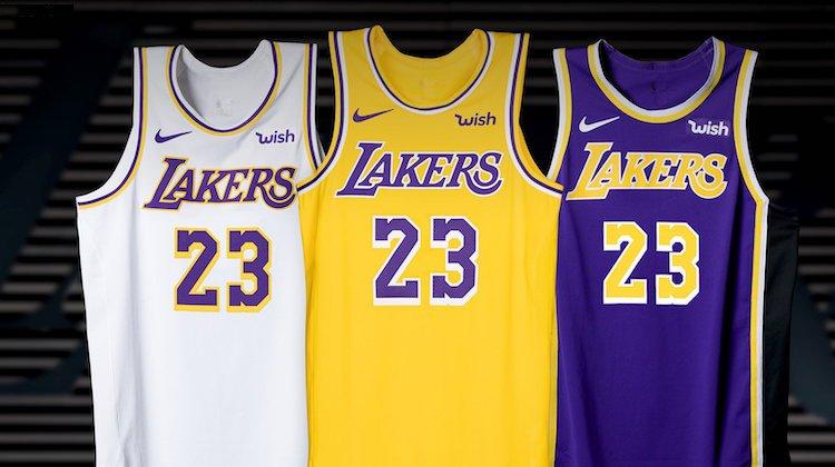 Le nuove maglie dei Lakers