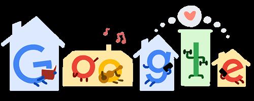 Restate a casa! Lo dice anche Google con i suoi Doodle!